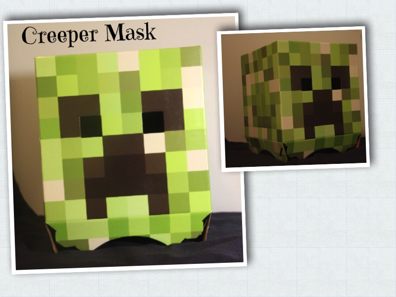 Creeper Mask Collage & Making a Minecraft Creeper Costume u2013 SewBitty